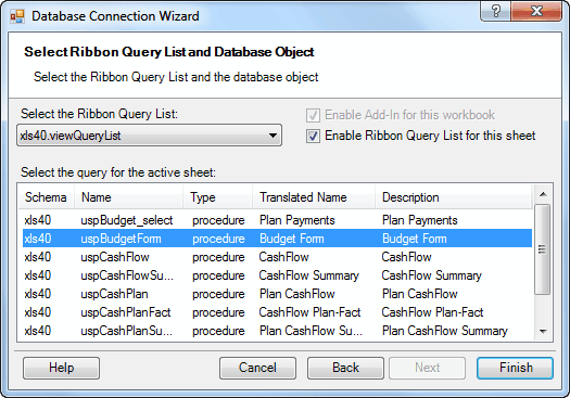 Database Connection Wizard - Connecting SQL Server from Excel