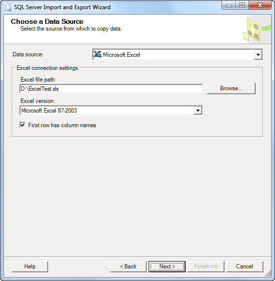 how to set up sql connector in excel